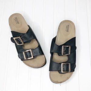 Missimo   Platform Footbed Sandals